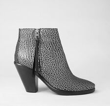 AllSaints 'New Jonas' Ankle Boots in Black / Silver Leather Size 38