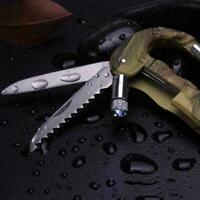 4 In 1 Multifunktionswerkzeug Karabinerhaken Cutter EDC Getriebe Werkzeug C W5V4