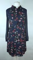 Monsoon Ladies Daisy Floral Sheer Modest Tea Shirt Dress UK 10 Party Occasion