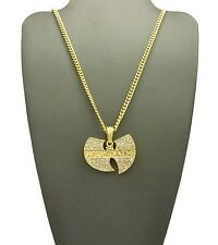 """NEW WU TANG PENDANT & 24"""" BOX/CUBAN/ROPE CHAIN HIP HOP NECKLACE - XZ81G"""