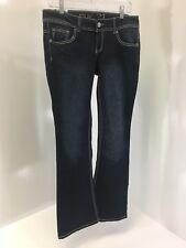 12e81242d98 rue21 Women s Low Rise Bootcut Jeans Dark Wash Size ...