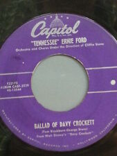 "TENNESSEE ERNIE FORD 45 RPM - ""Ballad of Davy Crockett"" ""Farewell"" VG- condition"