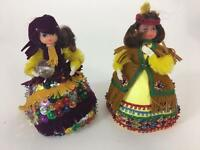 Lil Missy Beaded Doll Vtg Walco Lot 2 Pocahontas 13343 Gypsy 13363 1974 Craft