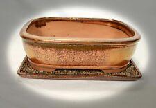 Bonsai Schale mit Unters 27x20x8 cm 21264 Kupferfarben Ahorn Fikus Wacholder