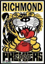 Richmond Tigers 2020 Wegart WEG Premiership Poster