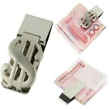 Money Clip Dollar Sign Card Holder Slim Clamp Stainless Steel Wallet Purse US