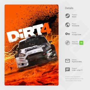 DiRT 4 (PC / MAC / LINUX) - Steam Key [GLOBAL, MULTI-LANG, INSTANT]