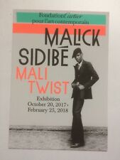 "Malick Sidibe suis Ali Twist"", exposition annonce carte, 2017."