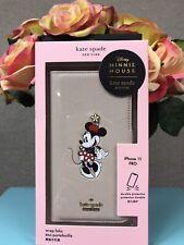 NIB Kate Spade Disney Minnie Mouse iPhone 11 Pro Wrap Folio Phone Case