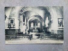 Cpa loire 42 hermitage de noiretable interieur de la chapelle