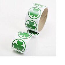 "Shamrock Sticker Roll (100 Stickers) 1 1/2"""