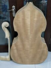 one Unfinished double bass,,plywood top and  back ,maple neck 3/4,