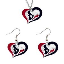 Houston Texans Fashion Jewelry Set Necklace-Earrings Team Logo Licensed NFL