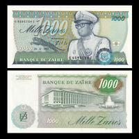 Zaire 1000 Zaires, 1985, P-31, banknote, UNC