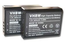 2x Batterie pour Canon EOS 1100 / 1100D LP-E10 LPE10 LP-E 10 ACCU