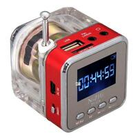 Hot Mini Portable Speaker USB Music MP3 / 4 Player Micro SD/TF FM Radio Red Jʌ
