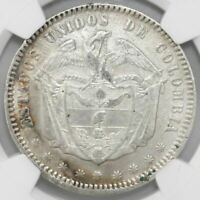 Bogota, Colombia, 1 peso, 1867, NGC XF details / excessive surface hairlines