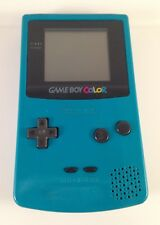 GAME BOY COLOR GBC Gameboy Console System CGB-001 Teal Turquoise Blue Authentic