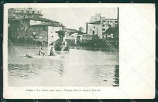 Roma Città Piazza Bocca della Verità Alluvione cartolina QT2208