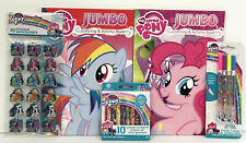 5 My Little Pony Jumbo Coloring Activity Books Crayons Stickers Glitter Gel Pens