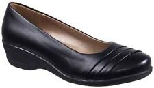 "Soft Style by Hush Puppies Women's ""Easy To Pleats"" – Black – Size 7 Medium"