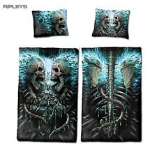 Spiral Direct BEDDING Single Duvet & Pillowcase FLAMING SPINE Skull Goth
