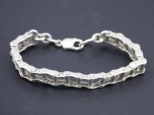 Bike Chain Bracelet Sterling Silver Gents Chunky Heavy 925 50.1g Dp3