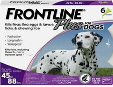 Frontline Plus for Dogs 45-88 lbs Flea and Tick Treatment and Control 6 Doses