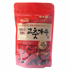 Korean Dried Red Pepper Powder Gochugaru Medium Spicy Hot Food For Kimchi 130g