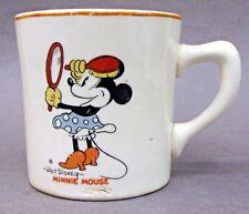 rare MINNIE MOUSE & HORACE HORSE COLLAR 1930's Patriot China coffee mug Disney *