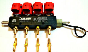 NEW VALTEK Type LPG-CNG Injector Rail 4 cyl Injectors 3 OHM + temperature sensor