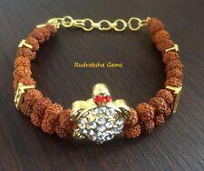 RUDRAKSHA RUDRAKSH BEADS TURTLE BRACELET WRIST BAND MALA YOGA HINDU MEDITATION