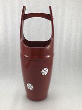 V15 Japanese Red Lacquer Ikebana Bucket Vase