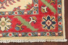 One-of-a-Kind ELEGANT Ivory Super Kazak Oriental Area Rug WOOL Hand-Knotted 2x3