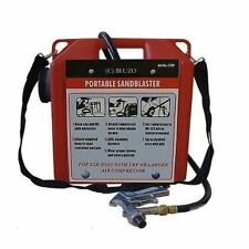 PORTABLE 30LB AIR SANDBLASTER SHOT GRIT SANDBLASTING GUN & HOSE HEAVY DUTY NEW