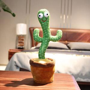 32cm Dancing Cactus Plush Doll Toy Kids Electronic Music Toys Singing Toys Decor