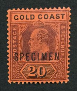 MOMEN: GOLD COAST SG #48s 1902 SPECIMEN MINT OG H LOT #191444-394