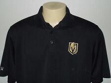 Antigua Vegas Golden Knights Black S/S Golf Polo Shirt Men Large