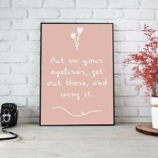 Wing It Eyeliner Peach Poster Print Wall Art | Unframed A6 A5 A4
