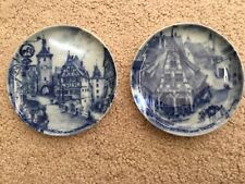 2- Rothenburg ob der Tauber Germa 00004000 ny Plates-Kaiser Christmas Blue