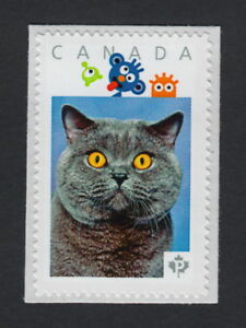 LQ. BLUE BRITISH CAT Personalized Picture Postage Stamp Canada 2015 [p15/3sn1]
