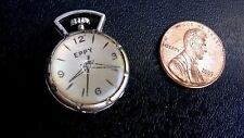 Vintage gumball machine cracker jack prize pocket watch silver plastic 1950's