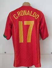 PORTUGAL EURO 2004/2006 HOME FOOTBALL SHIRT JERSEY CAMISETA #17 RONALDO NIKE (L)