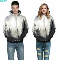Mens Tops Unisex Sweatshirt Womens Jumper Pullover Graphic Hooded 3D Print P