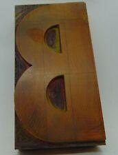 Wood Letter B Letterpress Printer Cut Wood Type 2 916 X 5
