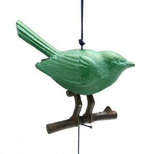 Japanese  Furin Windchime Songbird on Branch Cast Iron / Made in Japan