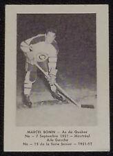 1951/52 - LAVAL DAIRY - MARCEL BONIN - QUEBEC ACES - QSHL - HOCKEY CARD #15
