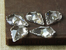 SALE! Lot 30 Lead Crystal Chandelier French Pendants Prisms Lamp Parts 1-1/2""