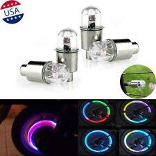 4x RGB LED Tyre Tire Air Valve Cap Light Car Bike Wheel Stem Cap Light Lamp Bulb