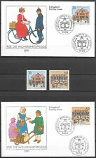 "GERMANY (BUND) - 1991 MNH ""Historical Post Offices"" Complete Set & 6 FDC's  !!!!"